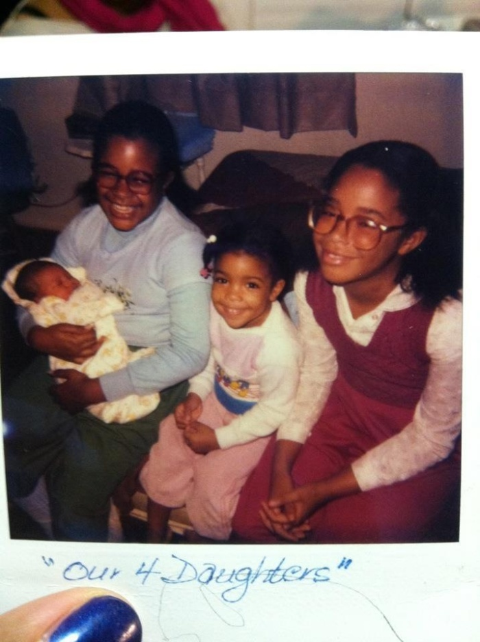 My sisters and I, circa 1983