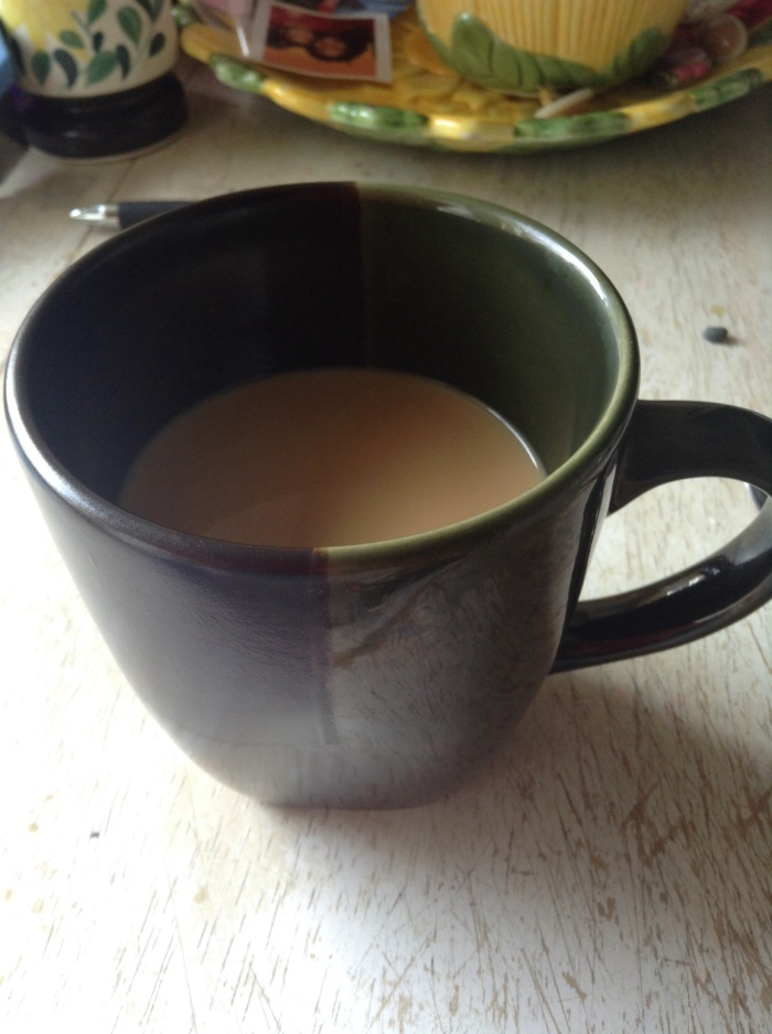 the cup of coffee I brewed when I got home
